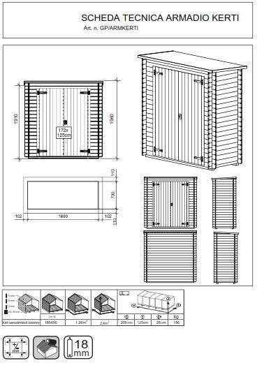 scheda tecnica armadio kerti